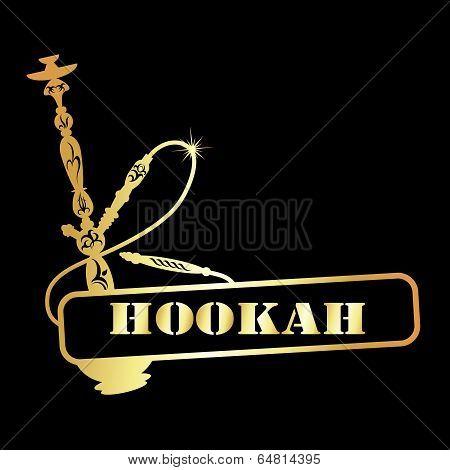 gold hookah symbol