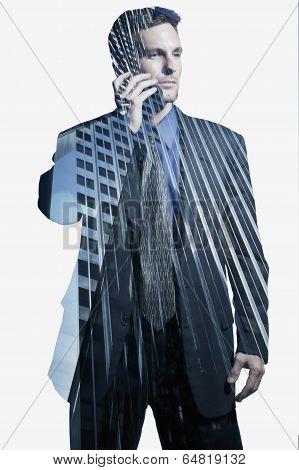 Businessman on cellular phone