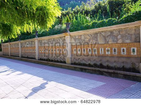 Segorbe fuente de los 50 canos fountain Castellon in Spain Valencian Community