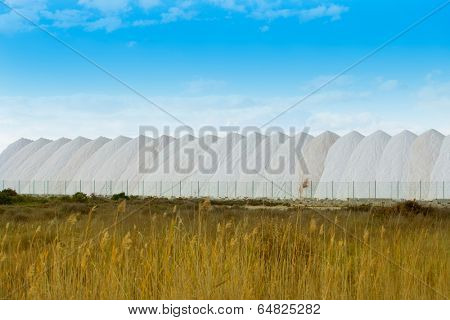 Saltworks in Alicante province Santa Pola Valencian Community at spain