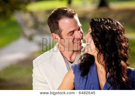 Happy Kiss Couple