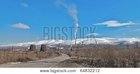 Mining Factory In Apatity, Murmansk Region, Russia.