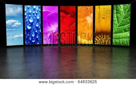 Rainbow of images background
