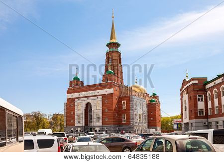 Samara, Russia - May 9, 2014: Samara Cathedral Mosque Is One Of The Largest Mosques In Russia.