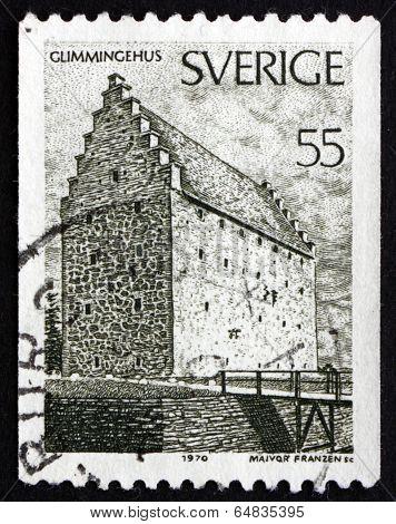 Postage Stamp Sweden 1970 Glimmingehus, Skane Province