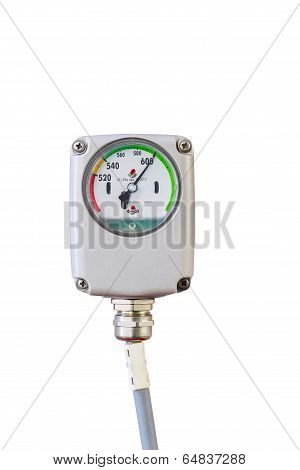 Isolated Pressure Gauge Control On White
