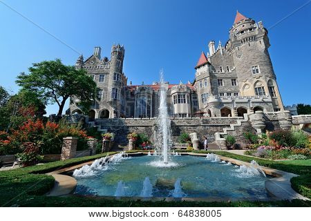 TORONTO, CANADA - JULY 3: Casa Loma exterior view on July 3, 2012 in Toronto, Canada. Built 1911�?�?�?�¨C1914 and was Established as museum 1937, it was the largest private residence in Canada.