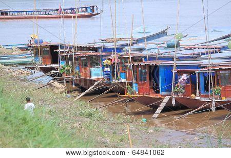 Mekong river in Luang Prabang Laos