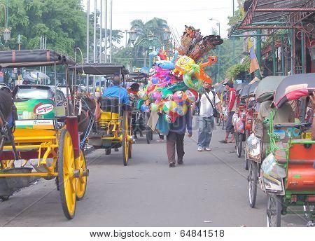 Malioboro street Jogyakarta Indonesia