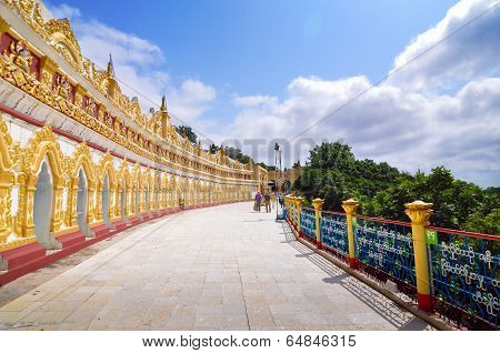 Sagaing, Myanmar- October 9, 2013 : U Min Thonze Pagoda
