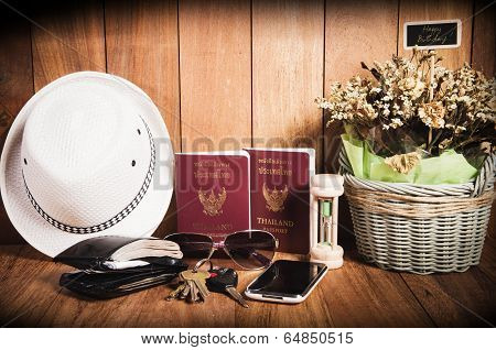 Still Life Concept Of Traveling