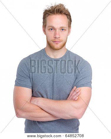 Handsome blond man