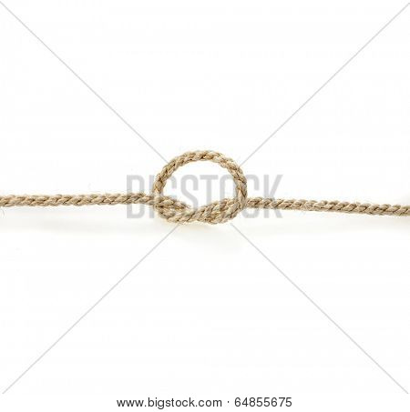 sisal rope isolated on white background