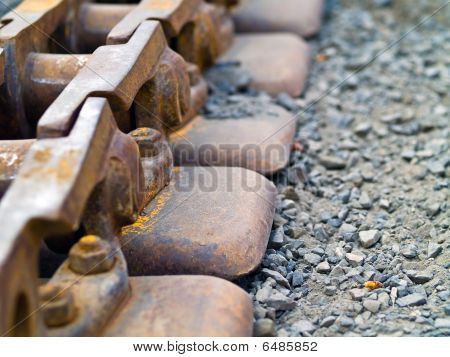 Old Rusty Continuous Tracks