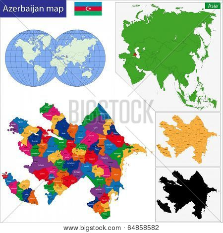 Map of administrative divisions of Azerbaijan