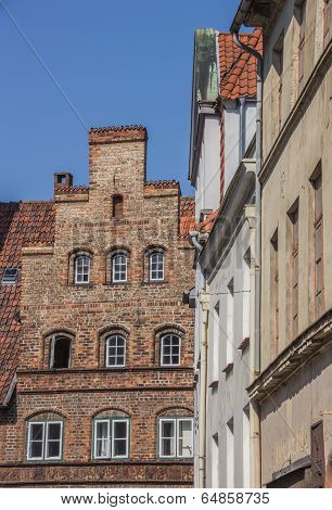 Old Houses In The Historic Center Of Lubeck