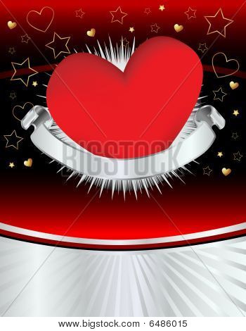 Silver Heart Grunge