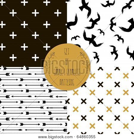 et of simple seamless 4 black and white Scandinavian trend seamless pattern