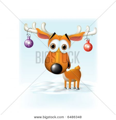 Cute Reindeer w/ornaments