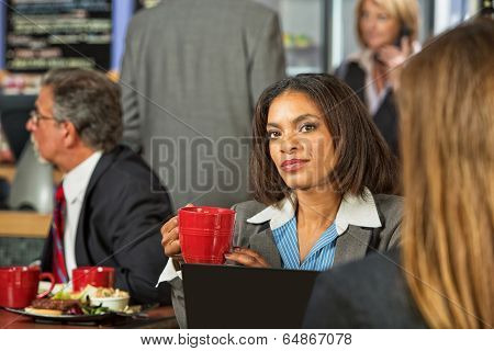 Woman Listening To Coworker