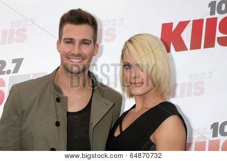 LOS ANGELES - MAY 10:  James Maslow, Peta Murgatroyd at the 2014 Wango Tango at Stub Hub Center on May 10, 2014 in Carson, CA