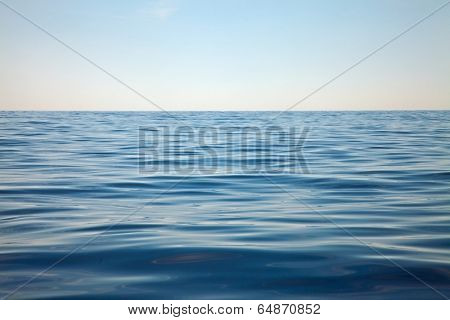 Open water surface of the sea