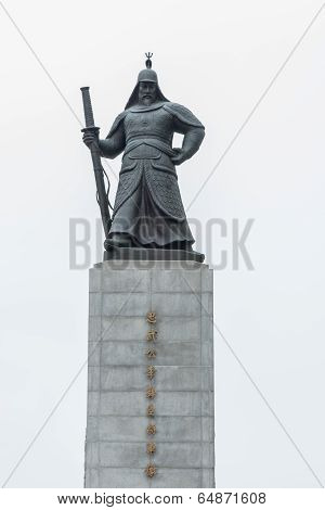 Korean warrior statue