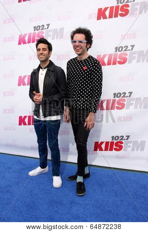 LOS ANGELES - MAY 10:  Chad Vaccarino, Ian Axel, A Great Big World at the 2014 Wango Tango at Stub Hub Center on May 10, 2014 in Carson, CA