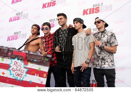 LOS ANGELES - MAY 10:  Jai Brooks, Daniel Sahyounie, Luke Brooks, James Yammouni, Beau Brooks, The Janoskians at the 2014 Wango Tango at Stub Hub Center on May 10, 2014 in Carson, CA
