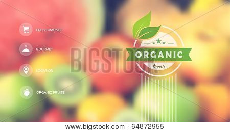 Organic Food Web Interface Blurred Design
