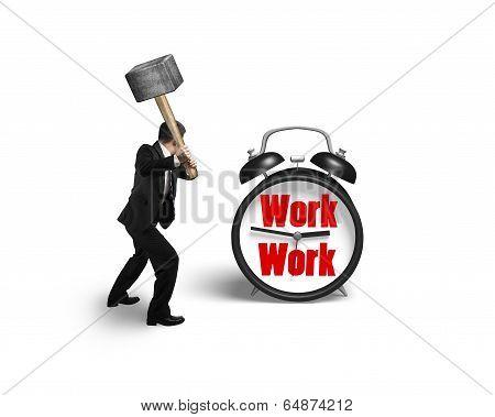 Using Sledgehammer To Damage Clock