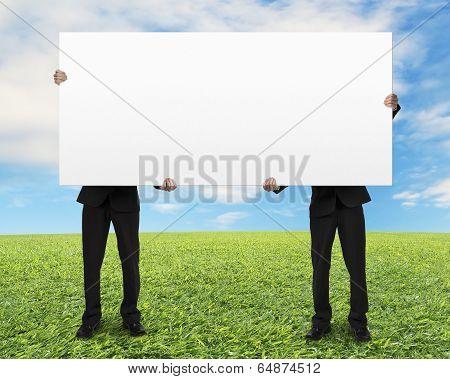 Men Holding Board