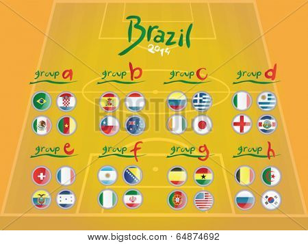 flags vector on pitch background