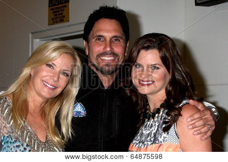 LOS ANGELES - MAY 6:  Kathering Kelly Lang, Don Diamont, Heather Tom at the Bold & Beautiful Celebrates Emmy Nominations at CBS Television City on May 6, 2014 in Los Angeles, CA