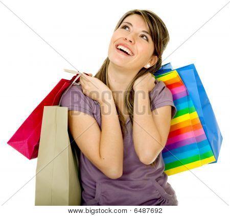 Pensive Shopping Girl