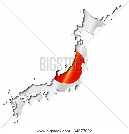 Japanese Flag Map
