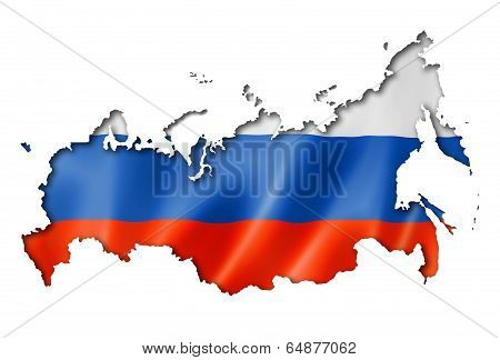 Russian Flag Map