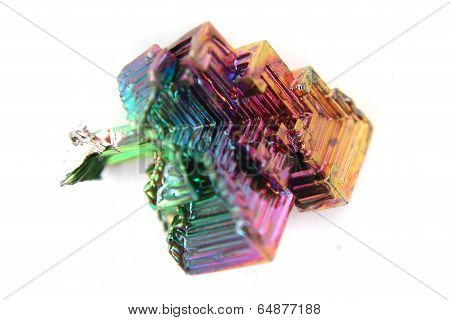 Bismuth (bismuthum - Bi) Color Metal Crystal