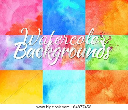 Watercolor backgrounds vector