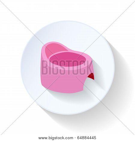 Chamber pot flat icon