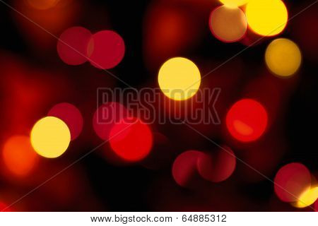 glowing blurred light, bokeh effect