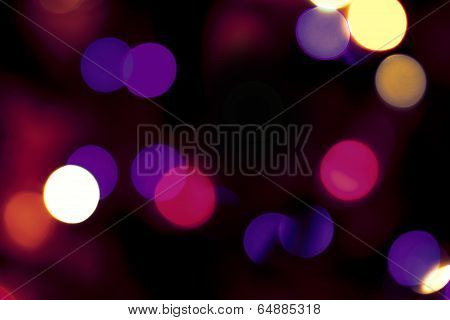 blurred glowing light, bokeh effect