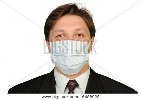 The Man In A Medical Mask.