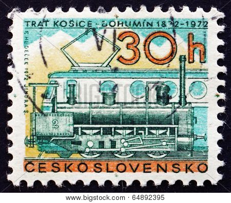 Postage Stamp Czechoslovakia 1972 Steam And Diesel Locomotives