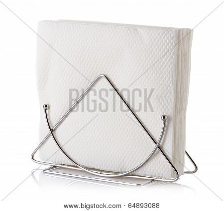 table napkin holder with napkin