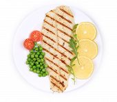 picture of pangasius  - Pangasius fillet on plate - JPG