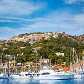 Javea Xabia port marina good vacation destination in Alicante Spain poster