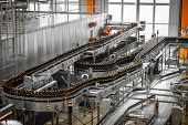 stock photo of malt  - Interior of a modern brewery equipment tools  - JPG