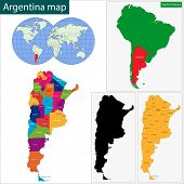 foto of falklands  - Map of administrative divisions of Argentina - JPG