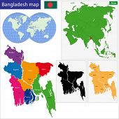 stock photo of bangla  - Map of People - JPG
